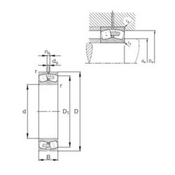360 mm x 600 mm x 192 mm  FAG 23172-E1A-MB1 spherical roller bearings #1 image