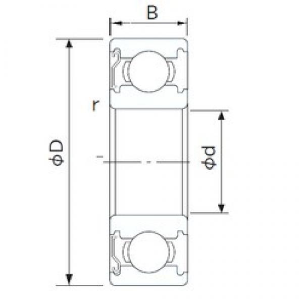 32 mm x 75 mm x 20 mm  NACHI 63/32ZE deep groove ball bearings #1 image