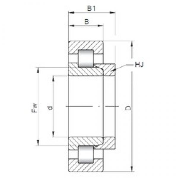 70 mm x 180 mm x 42 mm  Loyal NH414 cylindrical roller bearings #1 image