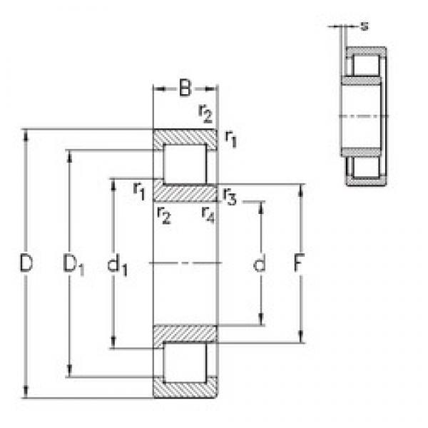 70 mm x 180 mm x 42 mm  NKE NJ414-M cylindrical roller bearings #1 image