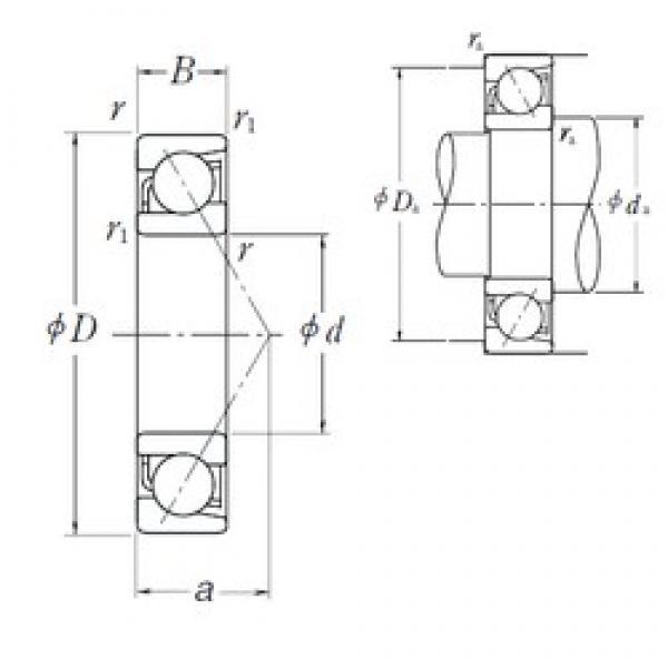 260 mm x 360 mm x 46 mm  NSK 7952B angular contact ball bearings #1 image