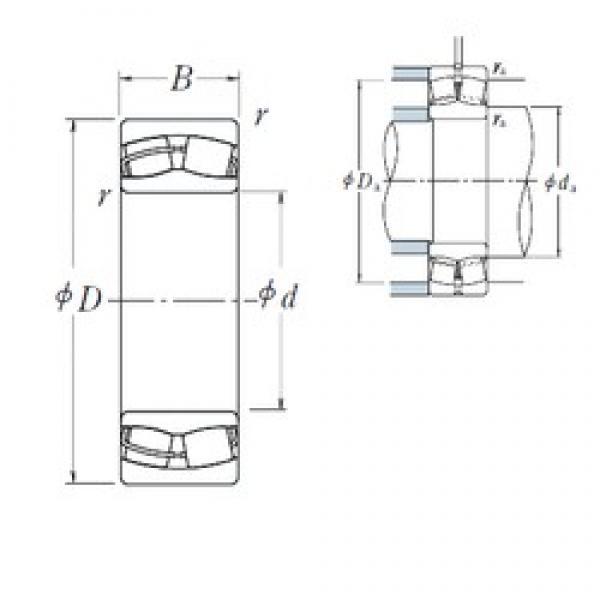 160 mm x 240 mm x 80 mm  NSK 24032CE4 spherical roller bearings #1 image