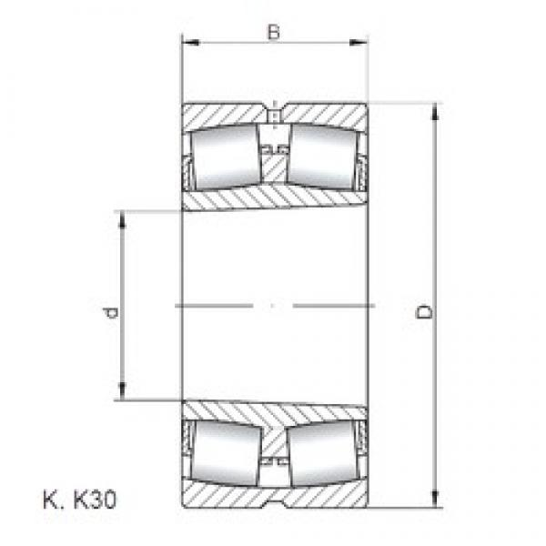 160 mm x 240 mm x 80 mm  Loyal 24032 K30 CW33 spherical roller bearings #1 image