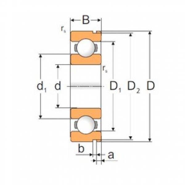 70 mm x 180 mm x 42 mm  Loyal 6414N deep groove ball bearings #1 image