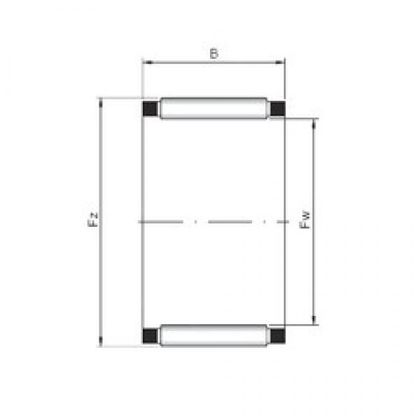 ISO K12x18x12 needle roller bearings #1 image