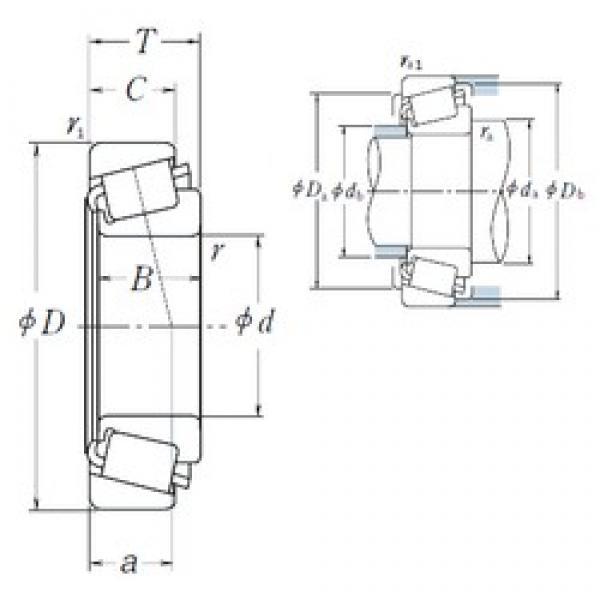 55 mm x 90 mm x 23 mm  NSK JLM506849/JLM506810 tapered roller bearings #1 image