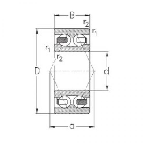 55 mm x 100 mm x 33,3 mm  NKE 3211-B-TV angular contact ball bearings #1 image