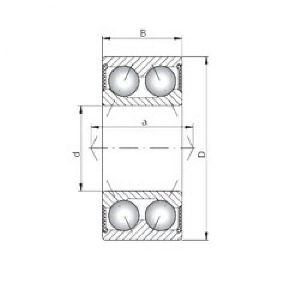 55 mm x 100 mm x 33,3 mm  Loyal 3211-2RS angular contact ball bearings #1 image