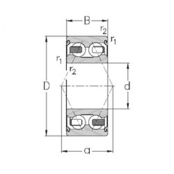 55 mm x 100 mm x 33,3 mm  NKE 3211-B-2Z-TV angular contact ball bearings #1 image