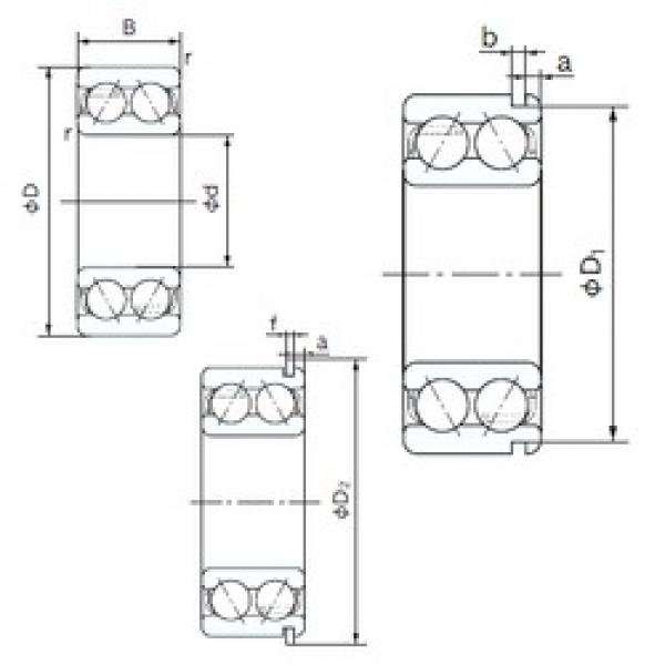 55 mm x 100 mm x 33.3 mm  NACHI 5211NR angular contact ball bearings #1 image