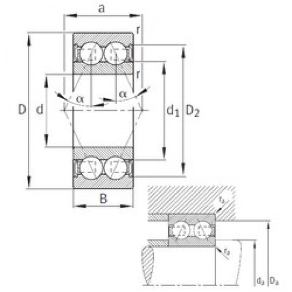 55 mm x 100 mm x 33,3 mm  FAG 3211-B-2RSR-TVH angular contact ball bearings #1 image