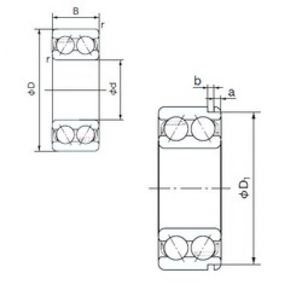 55 mm x 100 mm x 33.3 mm  NACHI 5211N angular contact ball bearings #1 image
