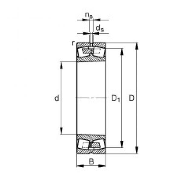 360 mm x 600 mm x 192 mm  FAG 23172-K-MB spherical roller bearings #1 image