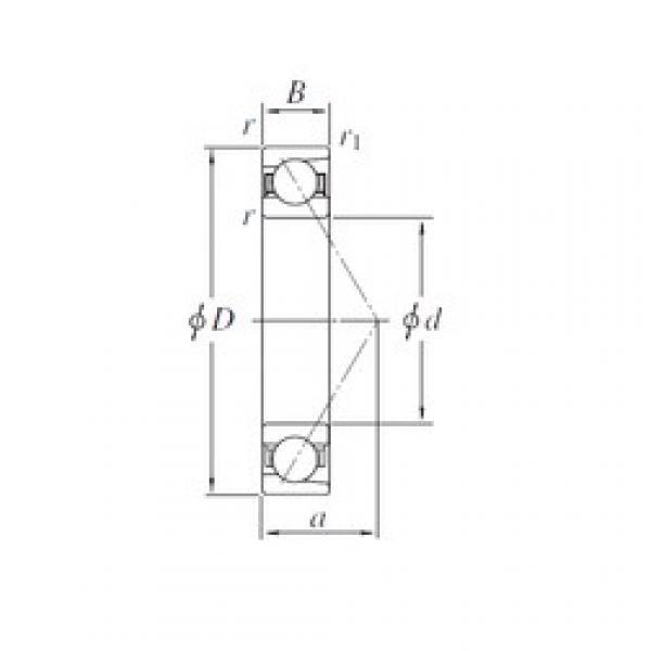 260 mm x 360 mm x 46 mm  KOYO 7952 angular contact ball bearings #1 image