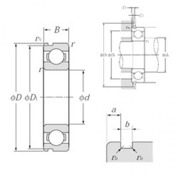 32 mm x 75 mm x 20 mm  NTN 63/32N deep groove ball bearings #1 image