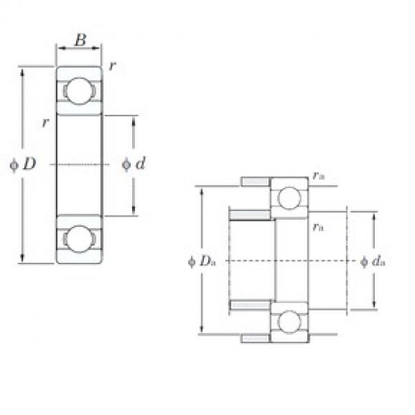 25 mm x 80 mm x 21 mm  KOYO 6405 deep groove ball bearings #1 image
