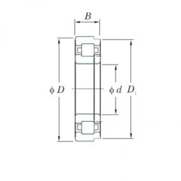 300 mm x 460 mm x 74 mm  KOYO NUP1060 cylindrical roller bearings #1 image