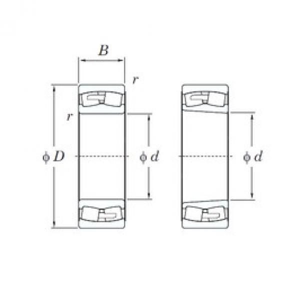 360 mm x 600 mm x 192 mm  KOYO 23172RHA spherical roller bearings #1 image